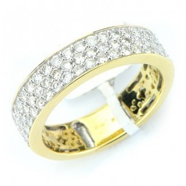 Diamond Wedding Band In Yellow 14K Gold