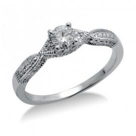 Diamond ígéret gyűrű-ban 14 K fehérarany