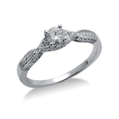 Diamond Promise Ring in White 14K Gold