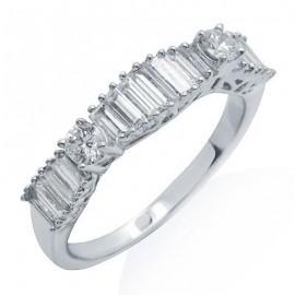 Gyémánt divat gyűrű 18 K fehér arany
