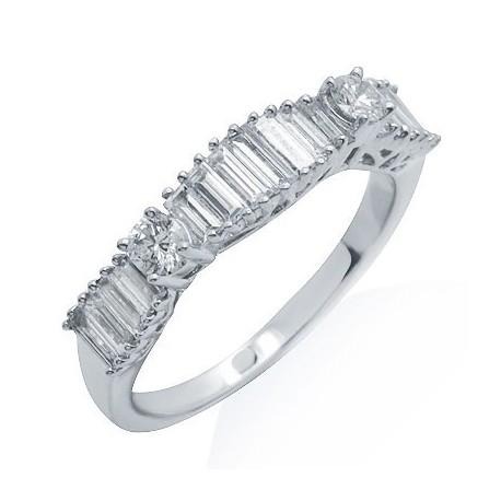 Diamond Fashion Ring in White 18K Gold