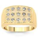 10 K sárga arany férfi Diamond Pinky Ring 0,59 Ctw