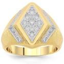 14 K sárga arany férfi Diamond Pinky Ring 1,00 Ctw