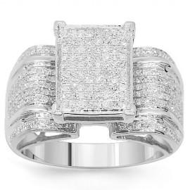 dda86eaf32 10 K fehér arany gyémánt eljegyzési gyűrű 1,00 Ctw - www.aranyekszer.com