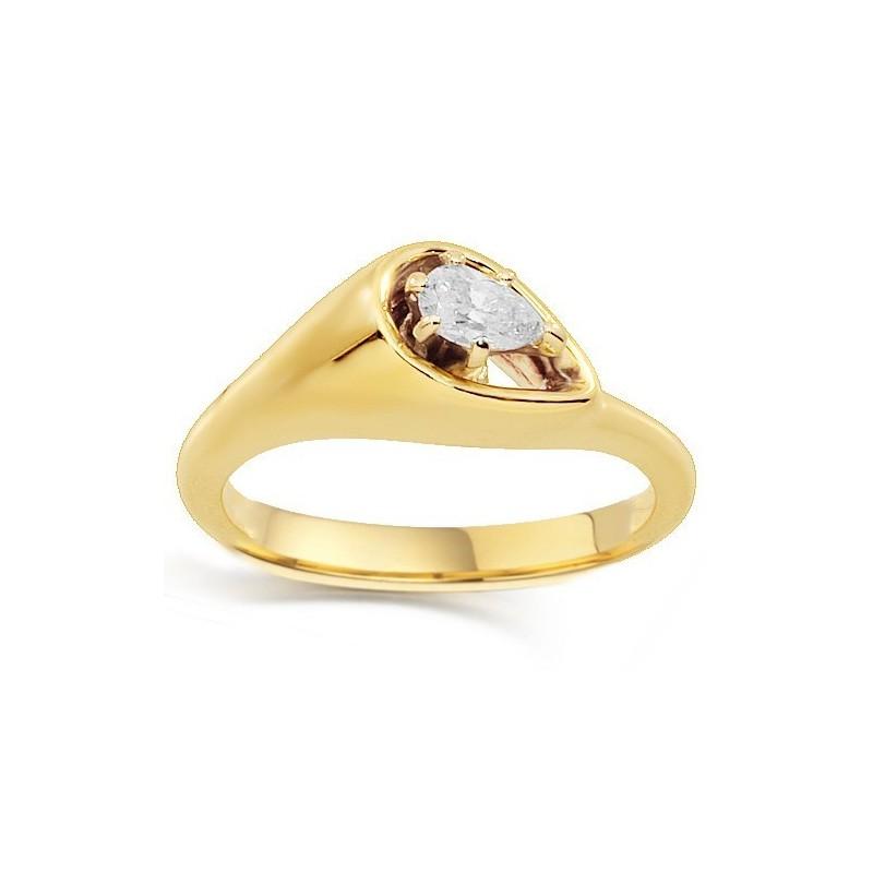 Ragyogjon egy pasziánsz gyémánt eljegyzési gyűrű