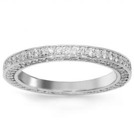 14 K fehérarany női gyémánt örökkévalóság zenekar 1,97 Ctw