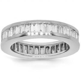 14 K fehérarany női gyémánt örökkévalóság zenekar 2,93 Ctw